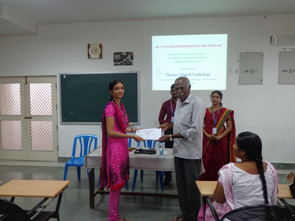 Dr. V. Balakrishnan Memorial CME Programs- Dept. of BioTechnology