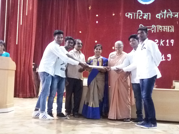 Hindi Inter college meet in Fatima College, Madurai on 21st January 2019.  Runners up